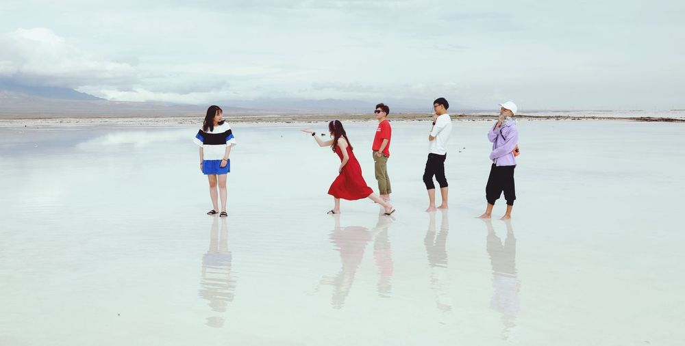 The Best of Us . Graduation Season Chaka Salt Lake Friendship ❤ EyeEm Selects Water Beach Real People Sky Group Of People Land Lifestyles Togetherness