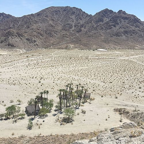Little oasis Dry Desert Mountain Day No People