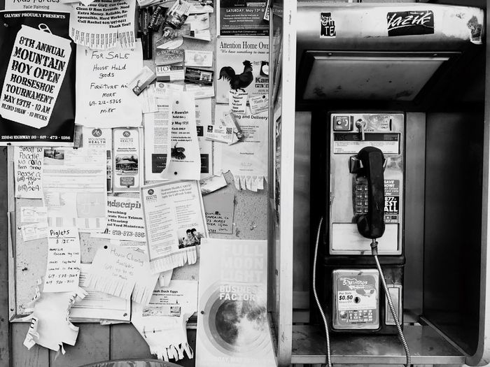 90's social media in Pine Valley, CA. Communication Telephone Old School Technology Old School Pay Phone Old-fashioned Pay Phone Connection Text Technology Telephone Booth Landline Phone Retro Styled Day Indoors  No People Close-up