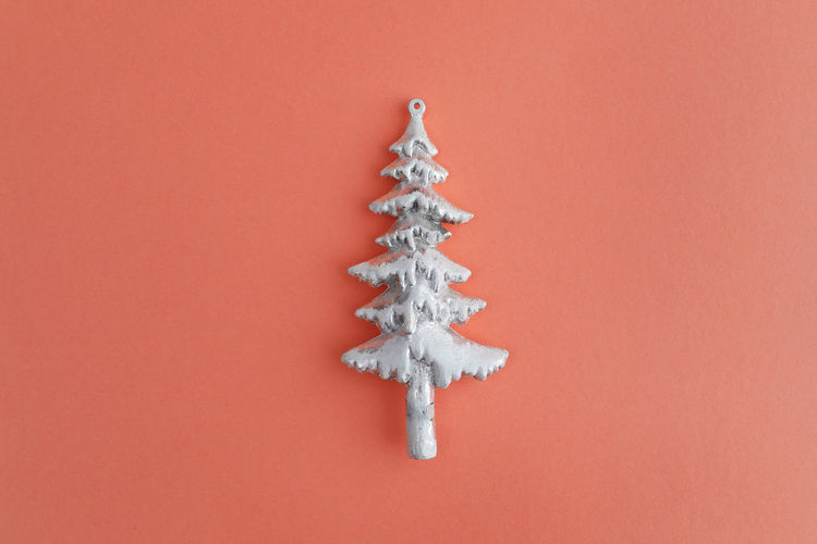 Close-up of frozen christmas tree