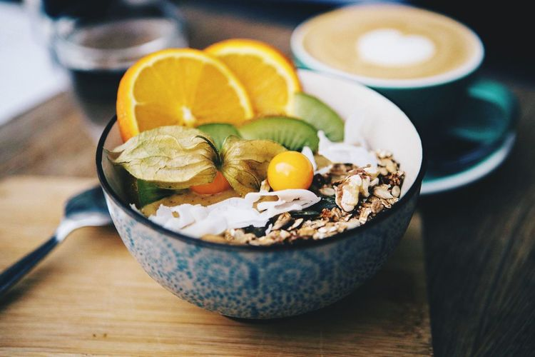 Holy Coffee EyeEm Selects Food Food And Drink Healthy Eating Freshness Table Fruit Breakfast No People Citrus Fruit Wood - Material Ready-to-eat Indoors  Egg Still Life Bowl