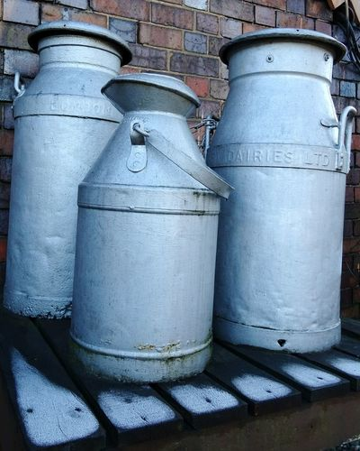 No People Day Close-up Outdoors Metal Milk Milk Churn Churn Dairy Dairy Product Silver  History Severn Valley Railway Bridgnorth EyeEm Gallery EyeEmBestPics EyeEm Best Shots