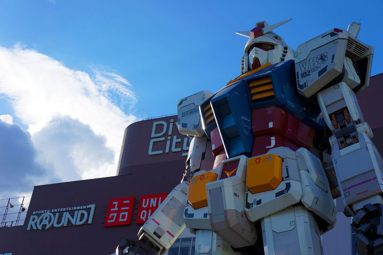 The Gundam Gundam Gundam Model Architecture Building Exterior Built Structure Cloud - Sky Day Gundam Build Fighter Gundamcollection Low Angle View No People Outdoors Sky