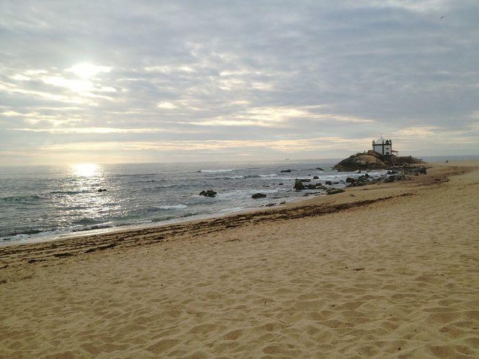 Capela do Senhor da Pedra - Vila Nova de Gaia - Portugal Senhor Da Pedra Praia Beach Vila Nova De Gaia MIRAMAR  Beira Mar Portugal Best Beach Sunset Por Do Sol Nortedeportugal First Eyeem Photo