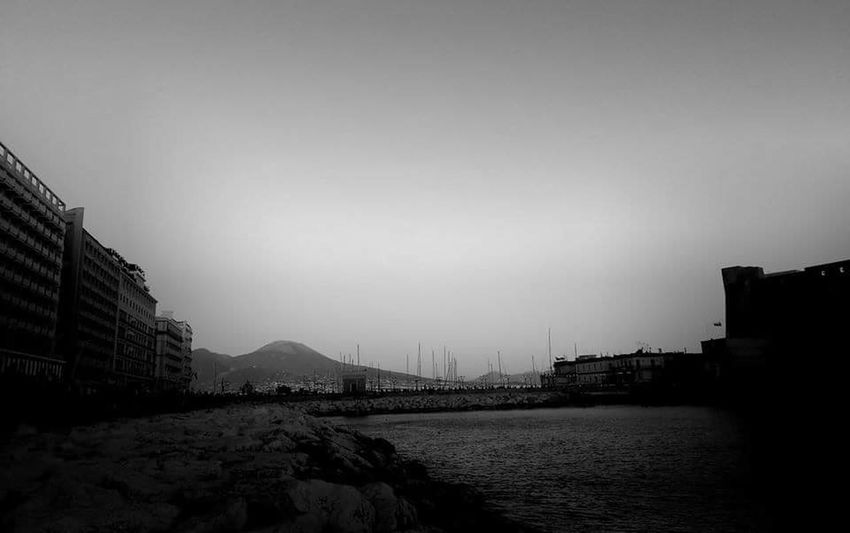 Napoli Sea Sky Day Architecture Beauty In Nature Vesuvio Naples💙 Black & White Blackandwhitephotography City Nature No People Beautiful Day Italy🇮🇹 Panoramic Photography Mergellina, Naples Maschio Angioino