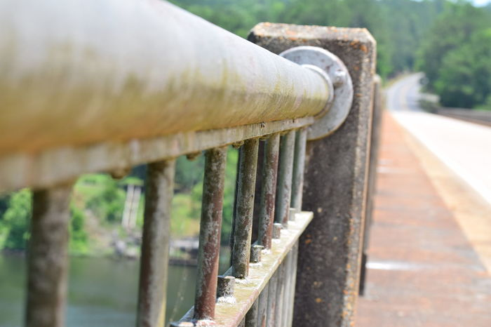 Coosa River Bridge - Man Made Structure Close-up Cropped Detail Bridge Diminishing Perspective Road Selective Focus Abstract Abstract Photography Old Bridge Old Bridges Riding My Motorcycle
