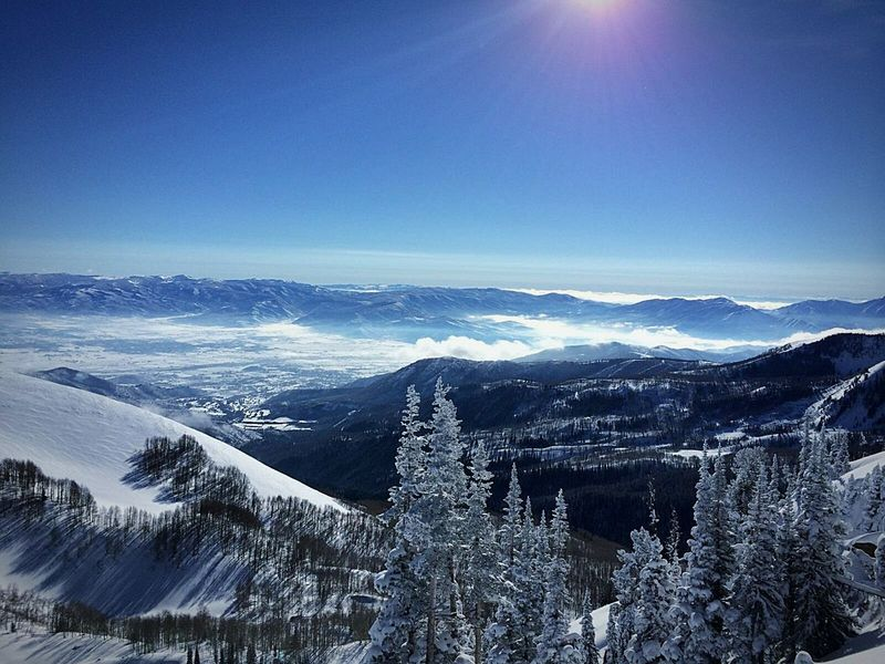 Salt Lake City, Utah ~ mountians First Eyeem Photo Winter Mountian View Landscape Utah Winterscapes Touch The Sky Clouds And Sky Nature Edge Of The World