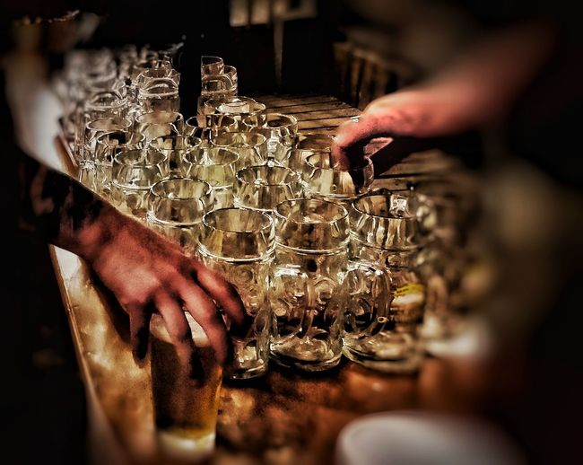 """""""Cheers"""" Baseball Soccer Futbol Fun Times Mugs Beer Tattoo Wedding Ring Ring Glass Glass Mug Glass Mugs Perspective Line Up Draft Draft Beer Hands Hands On Football Season  Football Season Paired On Tap Happy Hour Chill Chill Time Friends Human Hand Men Close-up"""