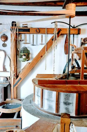 Indoors  No People Day Mill Stream White Mijas Village Shed Clean Old Antique Farm Agrarian Agricultural Machinery Agriculture Flour Wheat