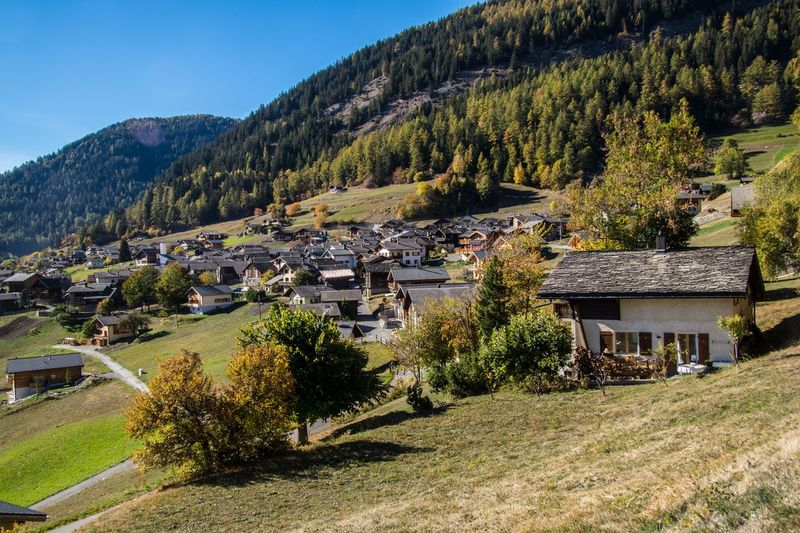 levron,valais,swiss Architecture Built Structure Tree Plant Building Exterior Mountain Building House Landscape Residential District Nature Land Day Environment No People Sky Scenics - Nature Rural Scene Village Field Outdoors Cottage