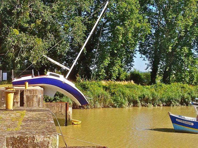 IPhone 4S Iphonephotography <Misconceivable> sculpture by Erwin Wurm - Le Pellerin, Estuaire de la Loire, France