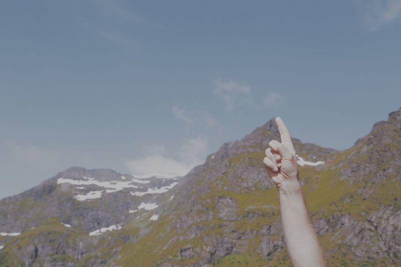 Top Up In The Air Upwards Mountain Experience Pointing The Way Pointing Up Point Finger To The Top