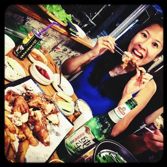 Korean Fried Chicken Beer Food Porn
