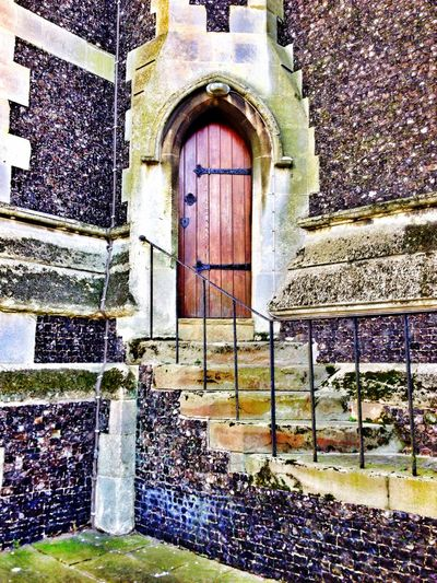 Church of the Poison Mind Brickswork Beauty Of Decay Church Flint Stairs Dorking