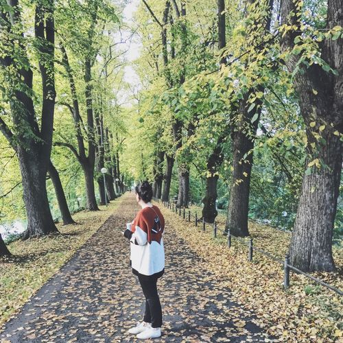 Autumn Autumn _ (null)Autumn🍁🍁🍁 Rear View Real People Tree Walking Full Length Two People Lifestyles Leisure Activity The Way Forward Nature Day Casual Clothing Backpack Men Togetherness Women Standing Beauty In Nature Outdoors Growth