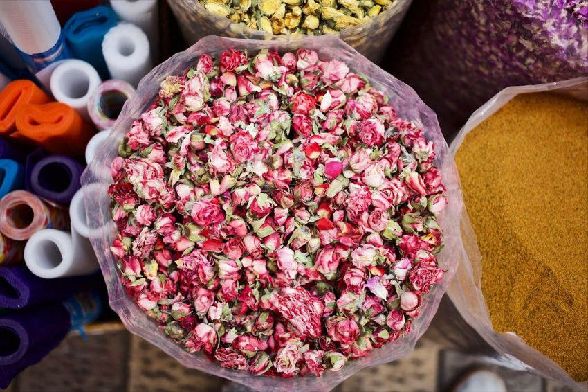 Dried Roses Tehran Spices Souk Bazzar Iran Open Edit OpenEdit Natural Medicine Herbal Medicine Pink Roses Food And Drink Food Choice Variation Spice Freshness Retail  Ingredient Market Close-up Multi Colored Seasoning Large Group Of Objects For Sale Abundance No People Red High Angle View Directly Above
