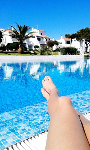 Relaxing Enjoying The Sun Getting A Tan Sea Pool Home Sweet Home Swimming Menorca Foreveryoung  That's Me