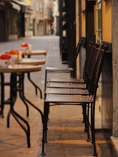 Alassio City Coffee In A Row Morning Morning Light Relaxing Sitting Bar Break Cafe Cappuccino Chair City View  Day Drinking Indoors  Italy No People Restaurant Street Photography Streetphotography Table Take A Break