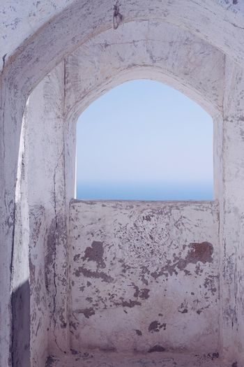 Church Tower Clear Sky Day Window Arch No People Sea Architecture Scenics Nature Sky Horizon Over Water Beauty In Nature Outdoors Close-up Greek Islands Nikia Nisyros Greece Whitewashed Houses Whitewash Whitewall White Whitewashed Chuch GREECE ♥♥