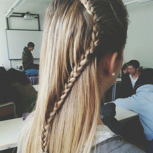 At school. Italian Girl Blonde Hair Sun Love