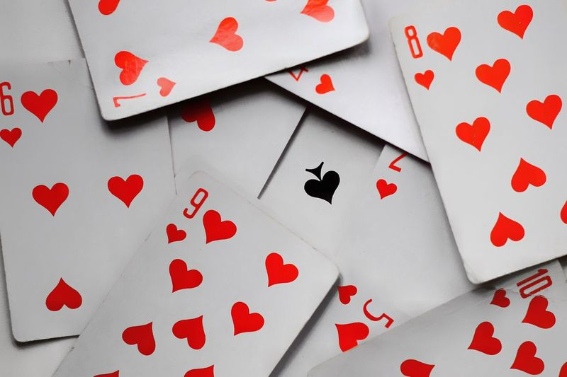Close-Up Of Playing Cards On Table