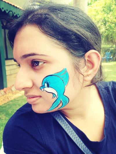 fish in the cheeks :)
