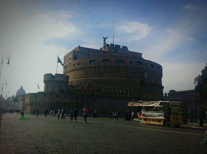 Rome Italy Castel Sant'Angelo Angel Beautiful Sky Walking Around Rome Streets Cobblestone Cool History Jrosemarieb
