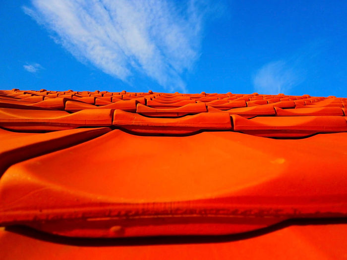 The roof view Roof Beauty In Nature Blue Day House House Roof Nature No People Orange Color Outdoors Sky
