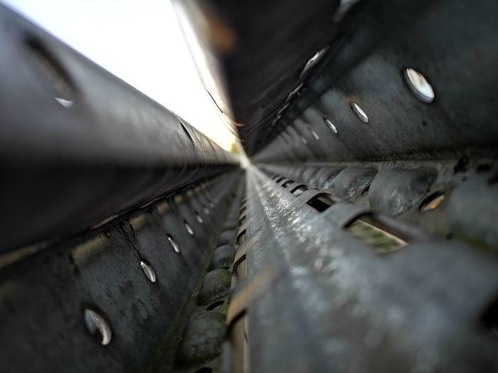 Close-up of wet metal during rainy season