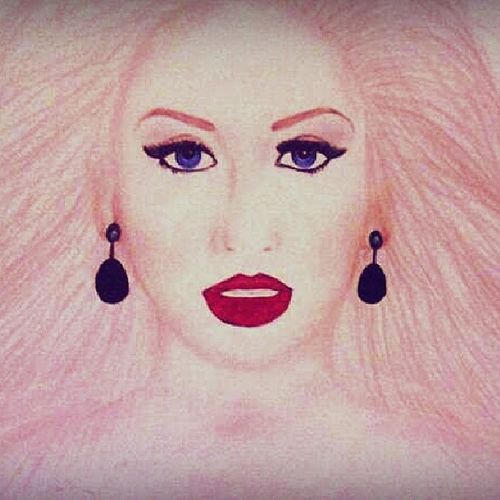 Christina  Aguilera Yourbody Art smile drawing Ilikeit..:-)
