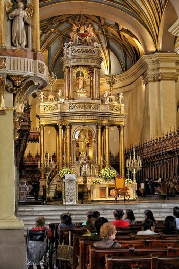 Cathedral of Lima. Cathedral Altar Place Of Worship Statue Sculpture Spirituality Religion History Architecture