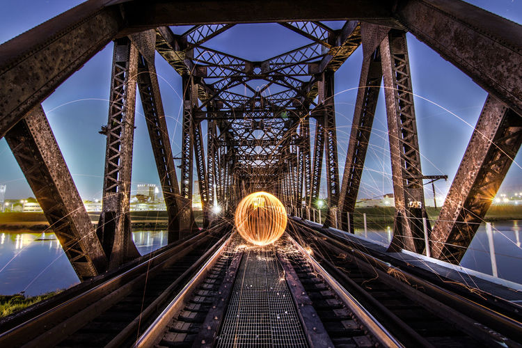 Architecture Bridge - Man Made Structure City Cityscape Connection Day No People Outdoors Sky Spark Steel Wool Steelwoolphotography Tourism Transportation Travel Travel Destinations Urban Skyline