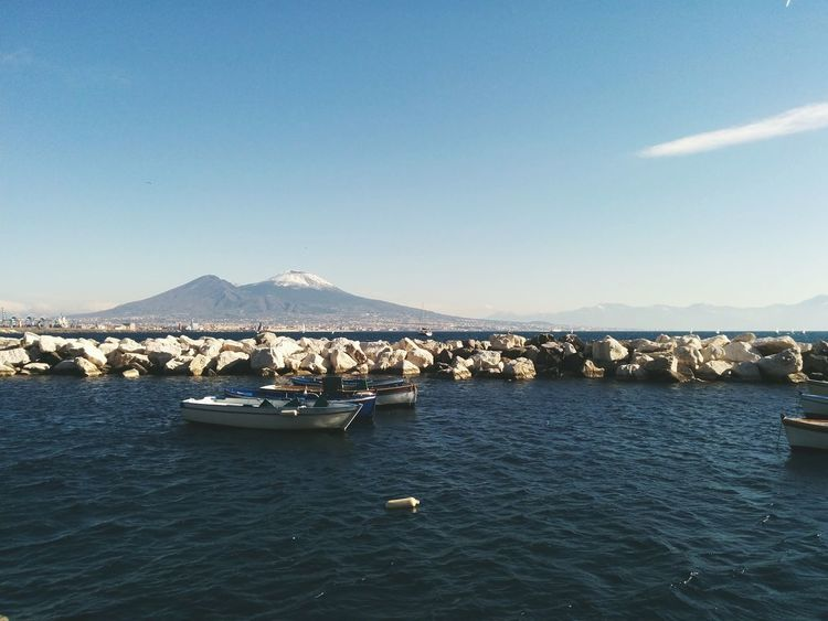 Vesuvio Vesuvius  Naples ıtaly Landscape Tranquility Blue Nature Water Beauty In Nature