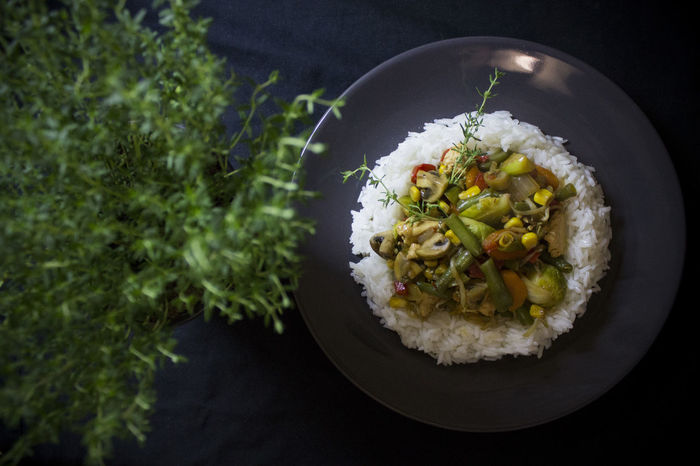 Bowl Close-up Day Flower Food Food And Drink Freshness Fried Rice Healthy Eating High Angle View No People Ready-to-eat Rice Rice - Food Staple Serving Size Table Thyme Vegetables The Week On EyeEm