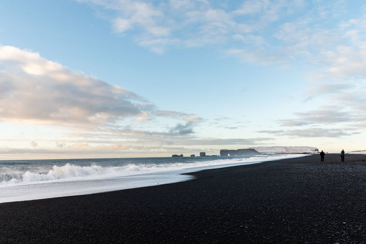Iceland Iceland Wintertime Sky Sea Water Cloud - Sky Beach Scenics - Nature Beauty In Nature Land Nature Tranquility Tranquil Scene Horizon Horizon Over Water No People Day Motion Outdoors Transportation Wave