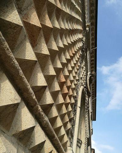 Ferrara, Italy Architecture Outdoors Scenics Palazzo Dei Diamanti Palace Built Structure Sky Day Architecture Low Angle View Pattern Built Structure Architecture No People Day Sky Outdoors Today Was A Good Day