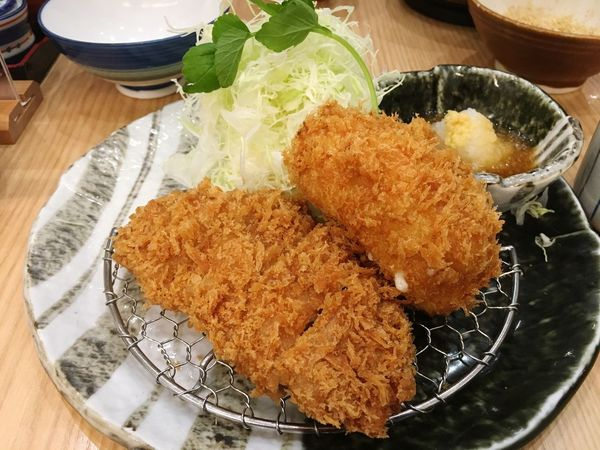 Tonkatsu and Korokke (croquettes ), Japanese deep-fried pork. Ready-to-eat Food Fried No People Deep Fried  Japanese Food Lunch Tonkatsu Tonkatsu Set Croquettes Korokke Croquette