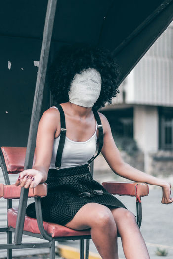 No face portrait Africa EyeEm EyeEm Best Shots Teenager Fresh On Market 2018 Abstract Portrait Street One Woman Only One Person Only Women One Young Woman Only Young Adult Sitting Young Women