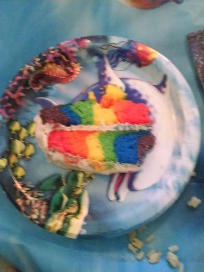 Myfriendsbirthdaycake Happymanyreturns Salut,mesamis!! Coincidence manycoloredcake Showcasejune Gaycolors