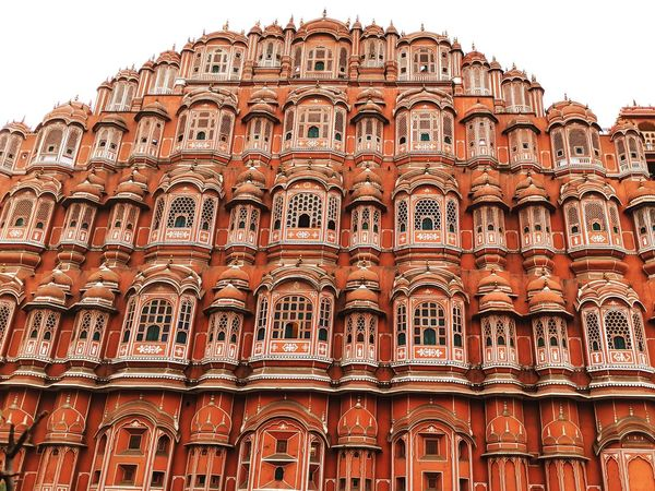 Hawamahal Jaipur Hawamahal Architecture Heritage Building Royal Rajasthan Travel Destinations Architecture Tourism History Low Angle View Travel Built Structure