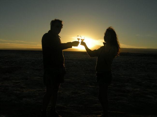 Couché De Soleil Couple Et Couché De Soleil Couple In Love Desierto De Atacama Santé 🍸 Tranquil Scene Tranquility
