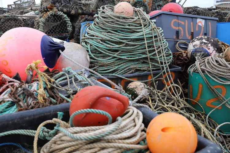 Buoys, rope and