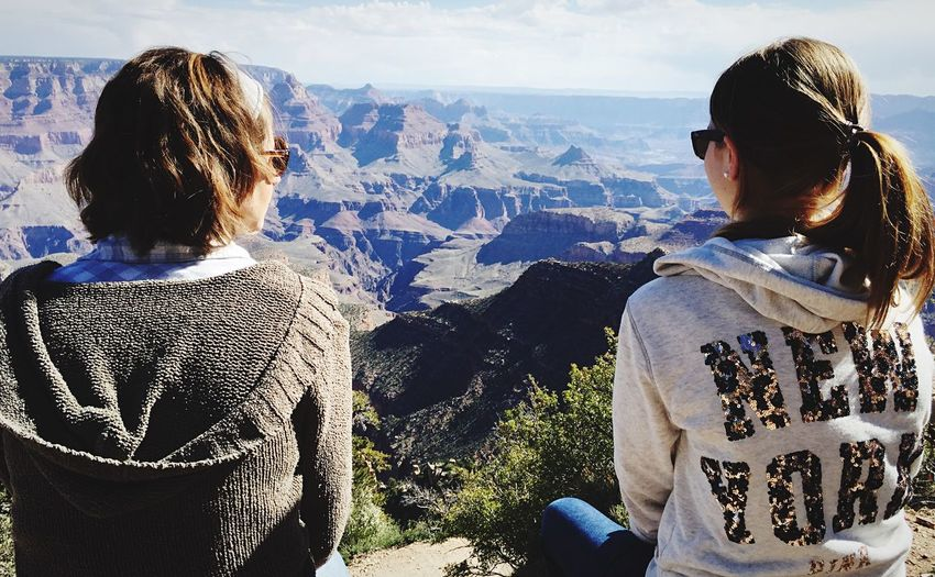 Two lovely ladies and the Grand Canyon. Grand Canyon Landscape_photography Landscape Landscapes Enjoying Life Girls