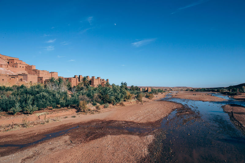 Aït Benhaddou Landscape_Collection Morocco Arid Climate Beauty In Nature Blue Climate Day Desert Environment Land Landscape Nature No People Non-urban Scene Outdoors Plant Rock Scenics - Nature Sky Sunlight Tranquil Scene Tranquility Tree Water My Best Travel Photo