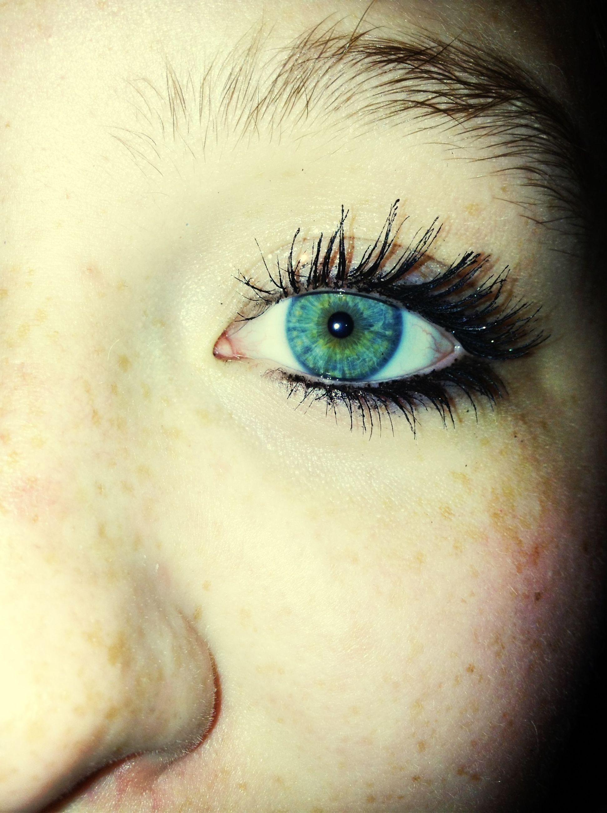 close-up, human eye, eyesight, sensory perception, eyelash, indoors, part of, unrecognizable person, human skin, portrait, eyeball, one animal, studio shot, looking at camera, extreme close-up, iris - eye, high angle view