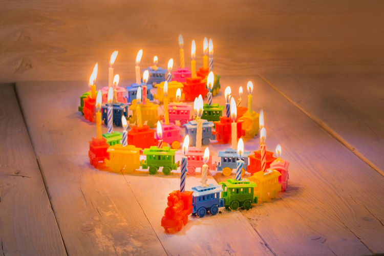 Happy Birthday! Birthday Birthday Cake Birthday Candles Birthday Party Birthday Train Birthdays Burning Cake Candle Celebration Childhood Close-up Congratulations Day Flame Illuminated Indoors  No People Studio Studio Photography Studio Shot Table Train