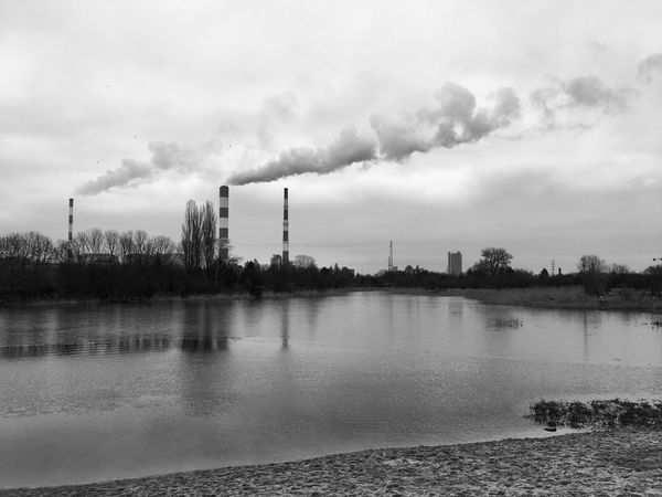 Sky Water Cloud - Sky Factory Building Exterior Nature Smoke Stack