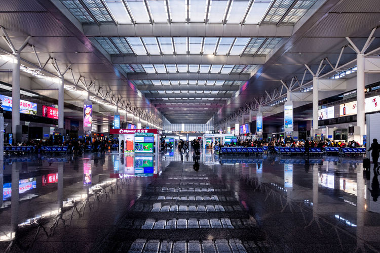 Adult Adults Only Architecture ASIA Built Structure China Commuter Crowd Day Hongqiao Hongqiao Train Station Indoors  Large Group Of People People Shanghai Tourist Train Station Travel Walking