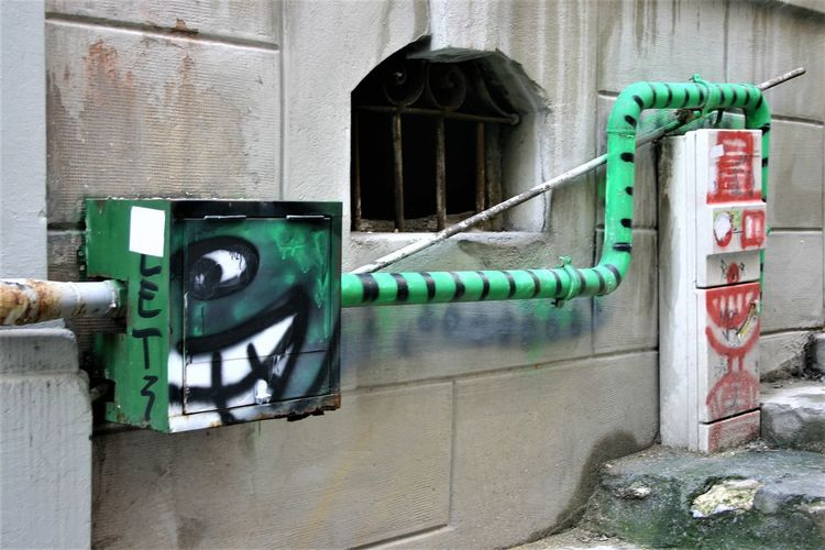 Green Monster Istanbul Turkey No People Outdoors Street Art/Graffiti Streetart Street Art Green Grinning Worm Canon