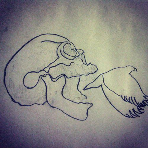 Drawing Skulls♥ Charcoal Remake